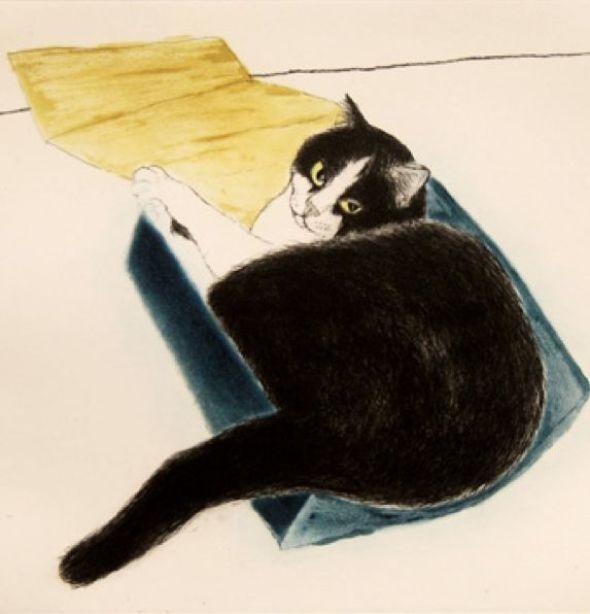 Elizabeth Blackadder (British, b.1931) - Fred in a Box, 2003