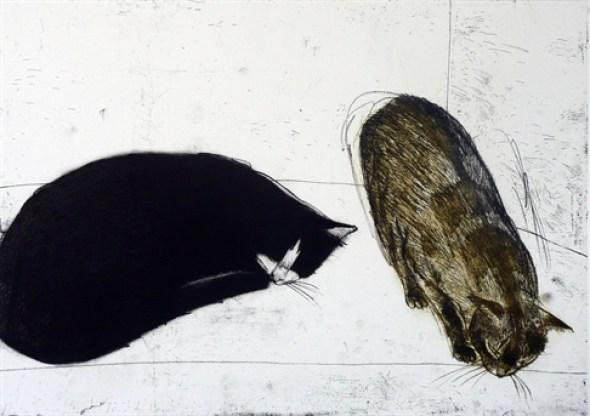 Elizabeth Blackadder, Two Cats