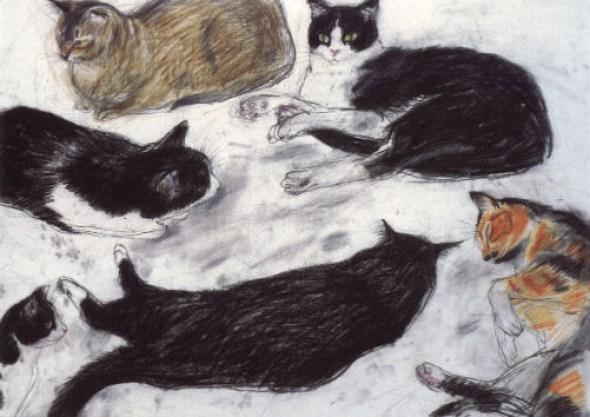 Study of Cats, Elizabeth Blackadder