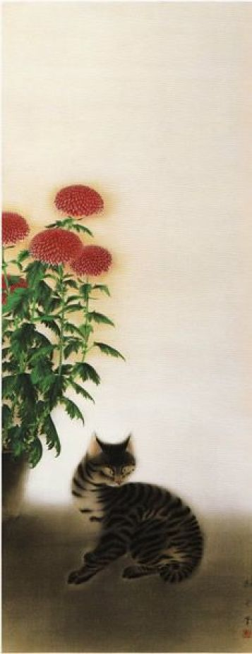 Chrysanthemum and Cat, Hayami Gyoshu