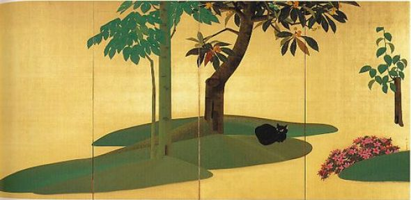 Emerald Mosses and Verdant Turf (Suitairyokushi, 翠苔緑芝) by Gyoshu Hayami in 1928