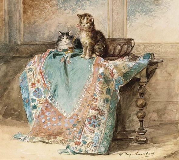 Kittens Louis Eugène Lambert