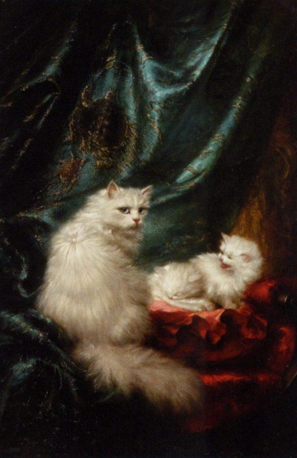 Carl Kahler (1855-1906), cat art