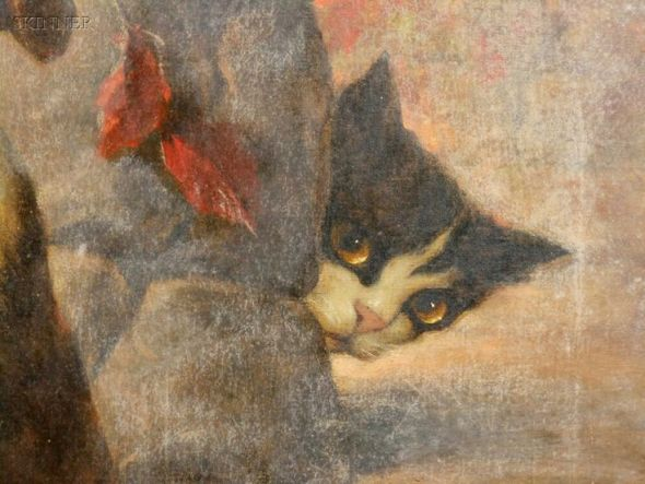 Carl Kahler, Peek a boo, cats in art