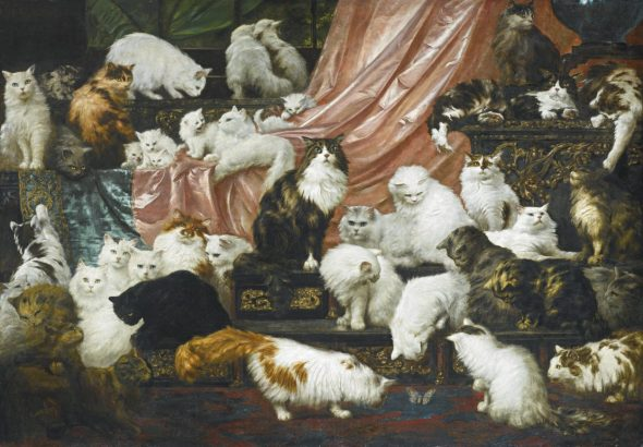 My Wife's Lovers, Carl Kahler, cat painting