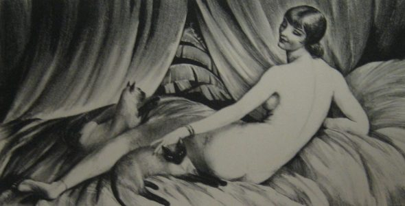 Nude with Cats, Agnes Tait