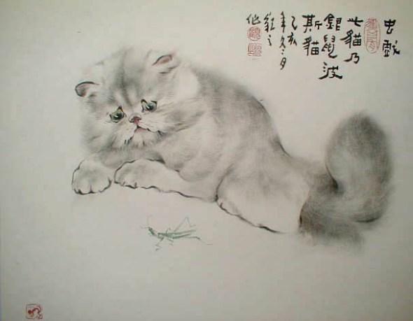 Gu Yingzhi, Chinese art cats