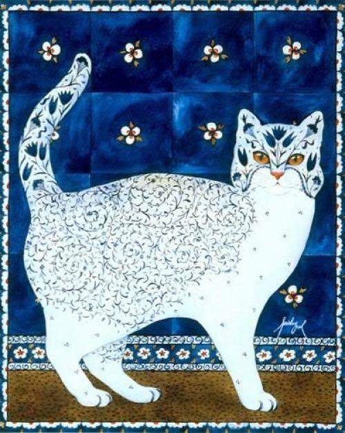 Feridun Oral, Blue Tile Cat
