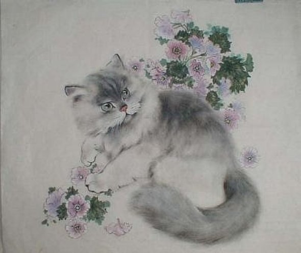 Gu Yingzhi, Chinese cat art