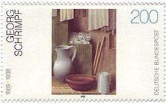 Georg Schrimpf-Briefmarke-Postage Stamp of Still Life with Cats