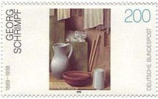 Georg Schrimpf-Briefmarke-Postage Stamp of Still Life with Cats