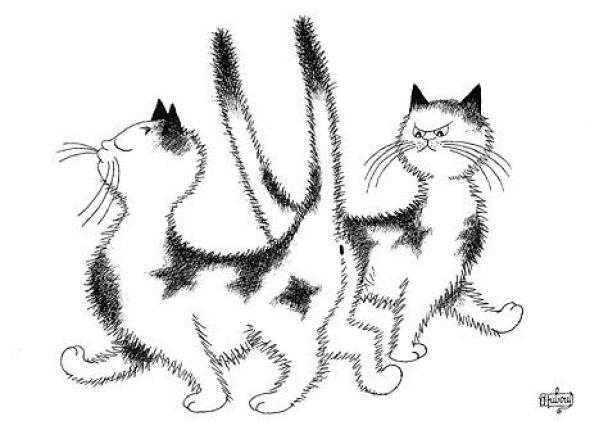 Albert Dubout, Snobby Cat