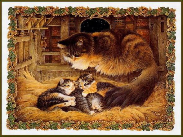20-Leslie Anne Ivory, Christmas Cat