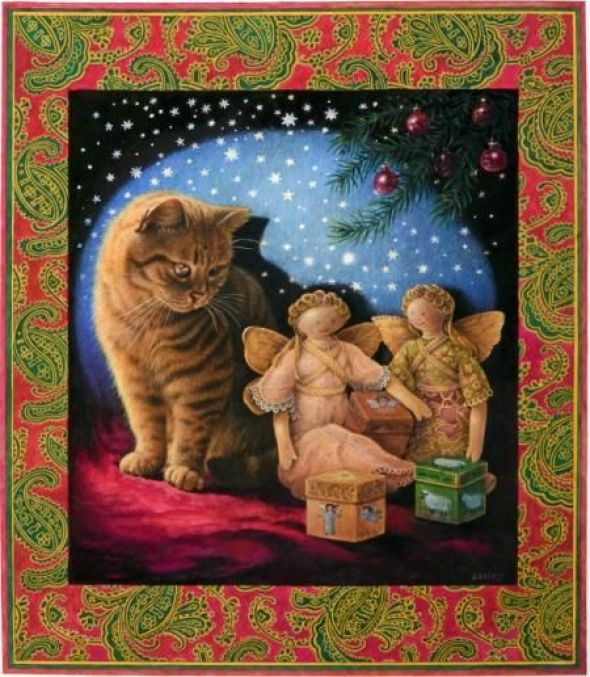 23-Leslie Anne Ivory, Xmas Cats