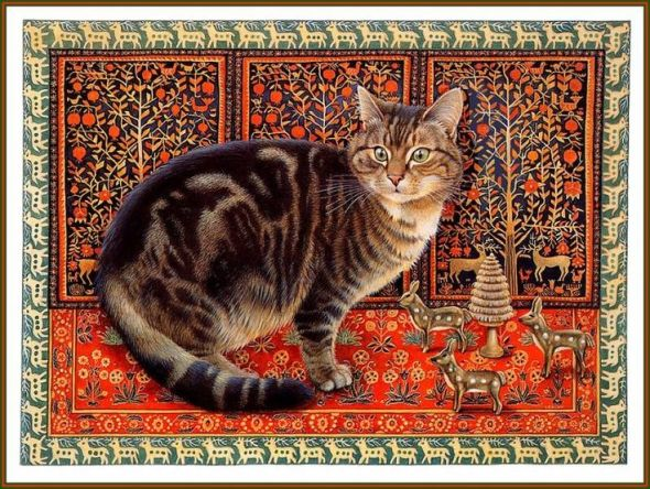 27-Leslie Anne Ivory, Xmas Cat