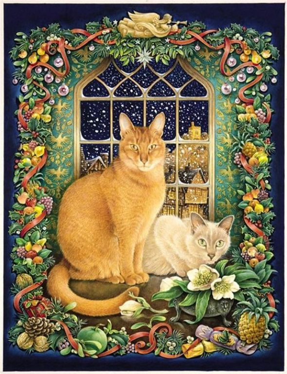 28-Lesley Anne Ivory, Christmas Cats