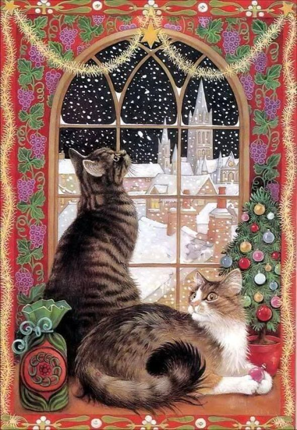 31-Lesley Anne Ivory, Christmas Cats