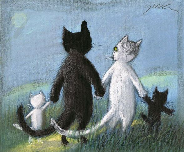 Cat Family, Jozef Wilkon