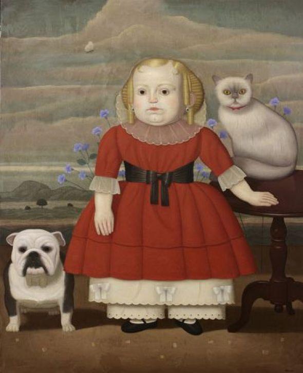 Girl, Dog and Cat, Juan Bejar