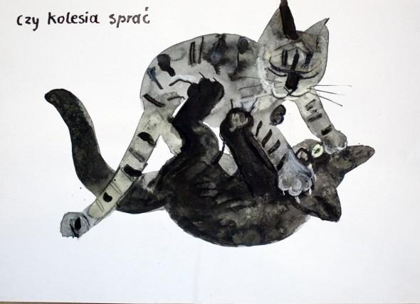 Józef Wilkoń, Cats Playing, Jozef Wilkon