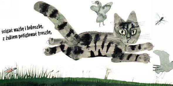 Kici-kici-miau-kocia-kolysanka_Jozef-Wilkon, cats, Jozef Wilkon