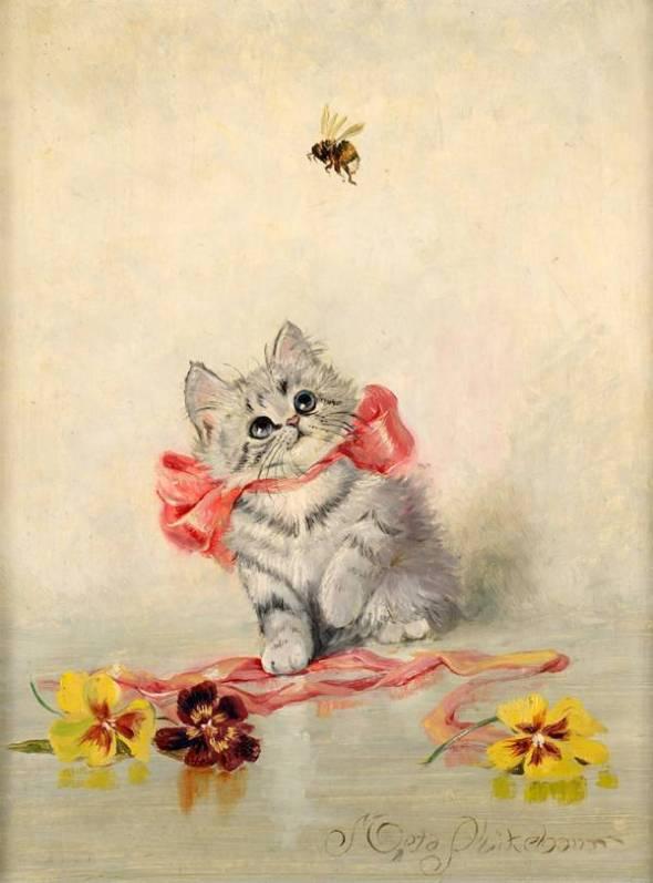 Kitten with a Red Ribbon, Meta Pluckebaum