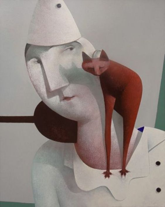 Man with Cat, Peter Harskamp