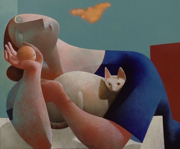 Cat and Woman, Peter Harskamp