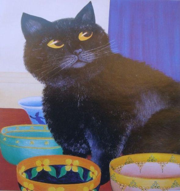 Beryl Cook, Black Cat