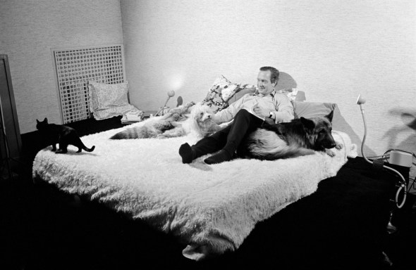 French editor Robert LaFont with Cat, 1972 Martine Franck