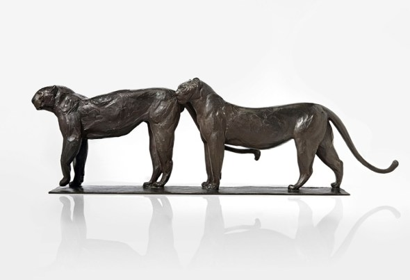 Two Panthers, Rembrandt Bugatti (2)