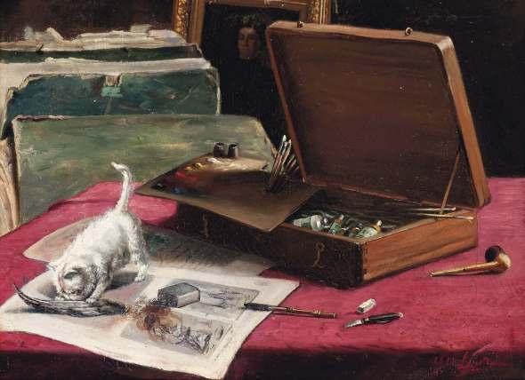 Mischief in the Artist's Studio, Marie Yvonne Laur, Yo Laur