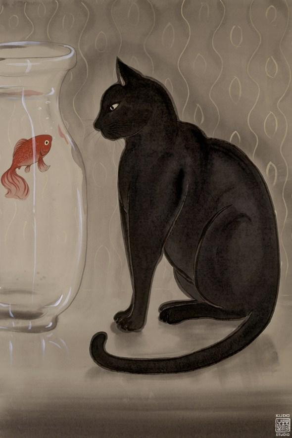 Muramasa Kudo, Black Cat and Goldfish