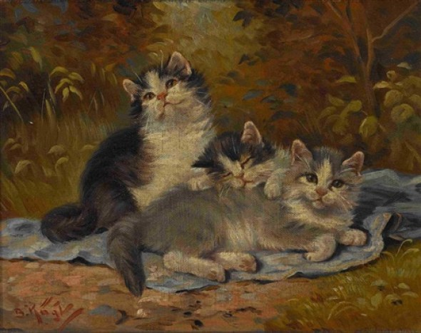 Benno Kogl, Three Kittens