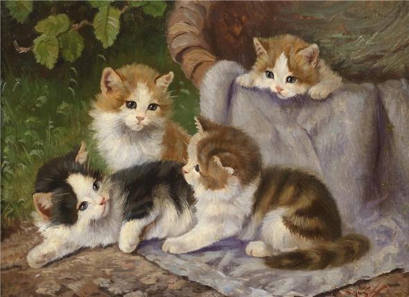 Four Kittens, Benno Kogl