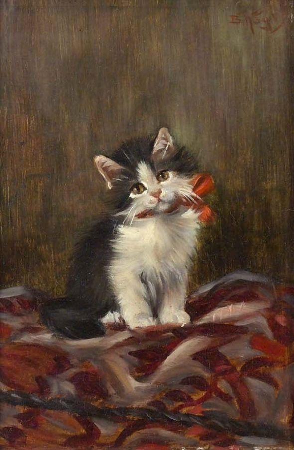 Kitten with Orange Bow, Benno Kogl