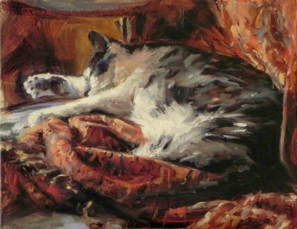 Jonelle Summerfield, Asleep on a Throw