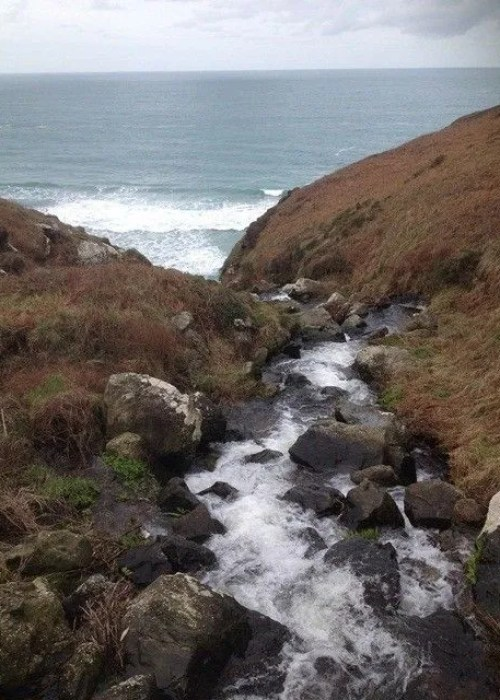 Stream leading to the sea West Cornwall