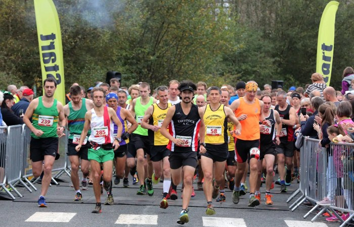 The Eden Project Marathon Start line with runners