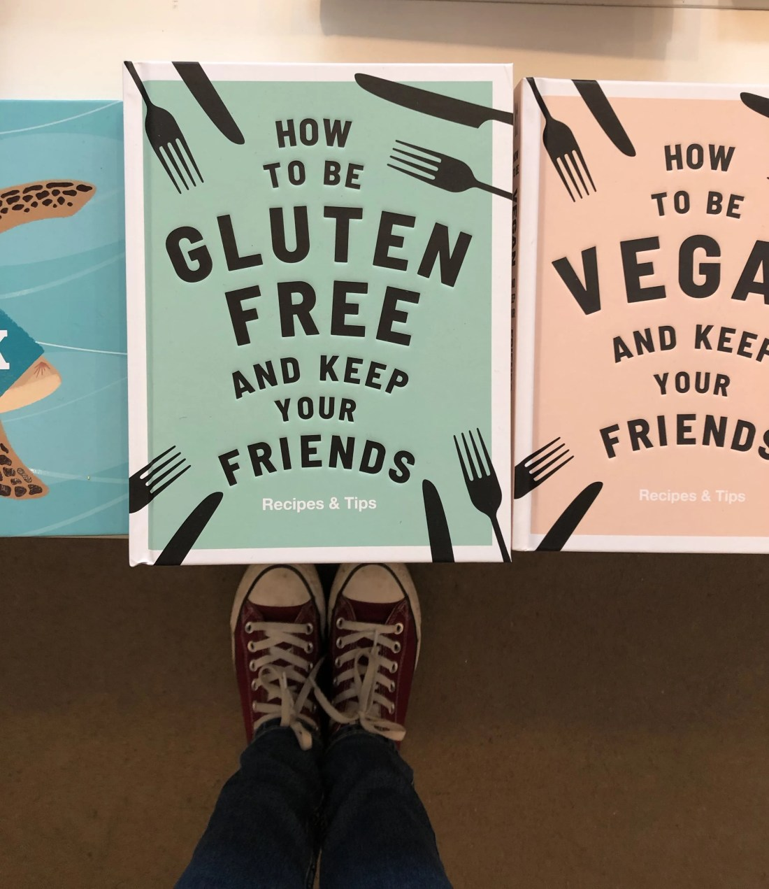 Gluten Free Book covers on display