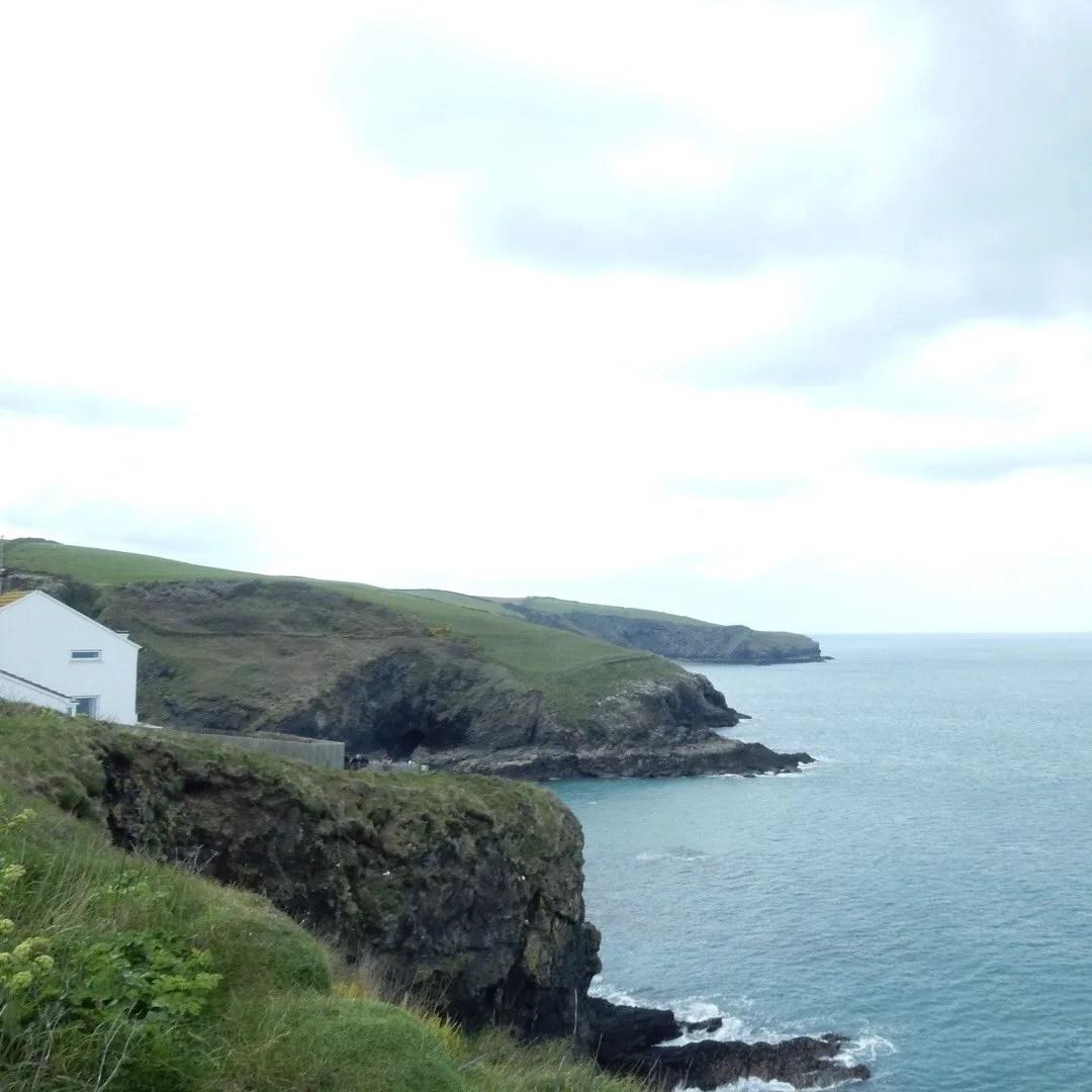Coastline cliffs with house
