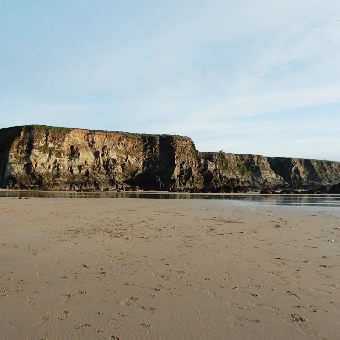 Cliff on the Beach