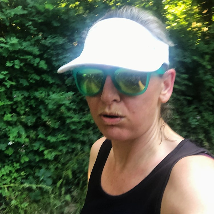 Runner woman tired puffing