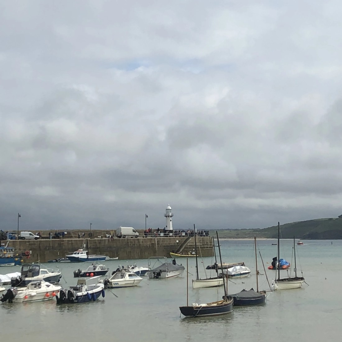 St Ives Bay Boats Low Tide