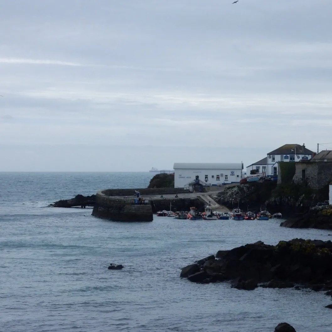 Coverack Harbour Fishing Boats