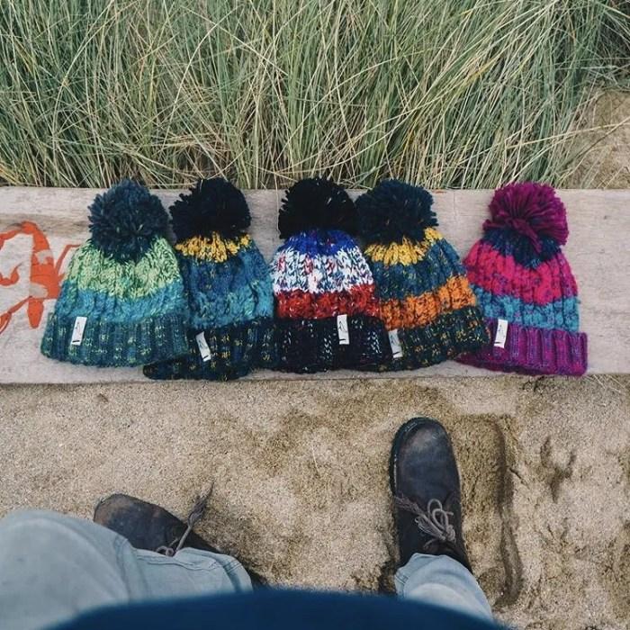 Bobble hats Huers Clothling Cornish Christmas Gift