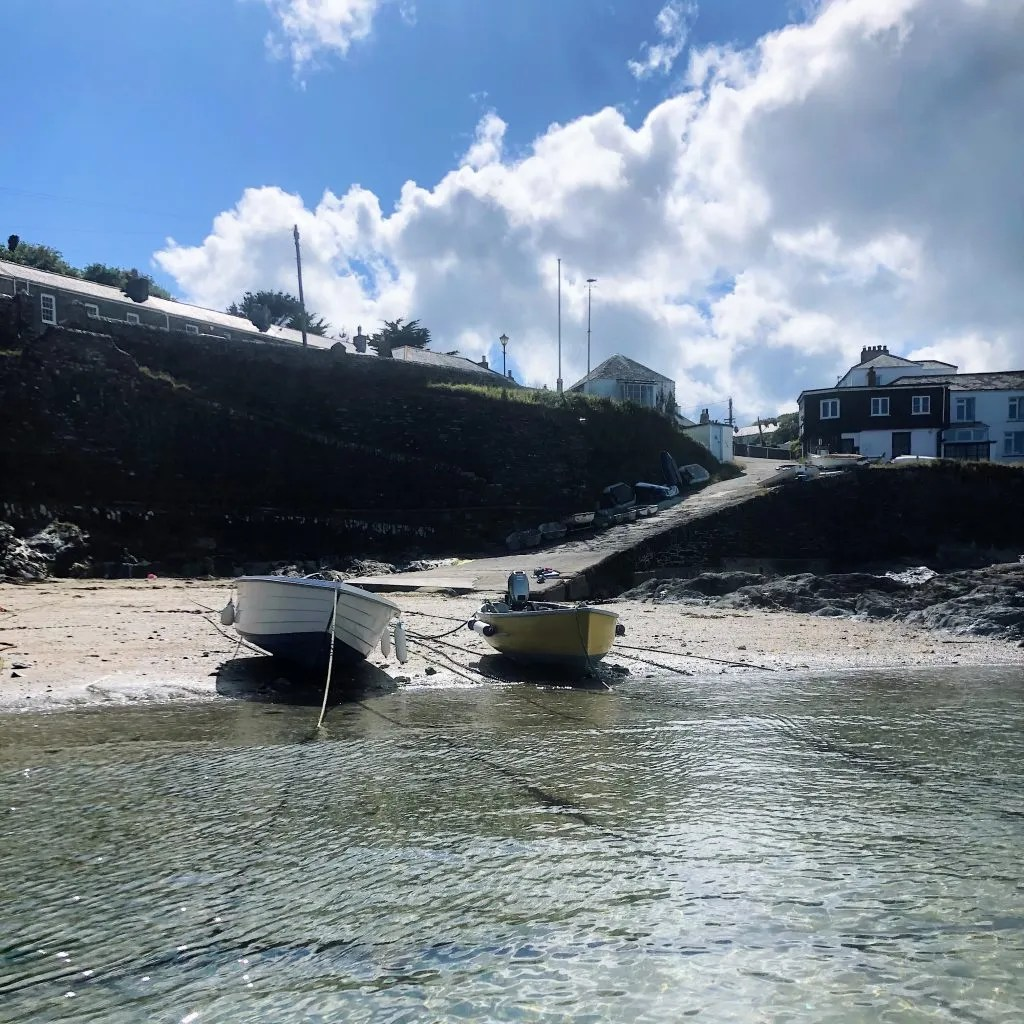 Portscatho Harbour Fishing Boats on the Beach
