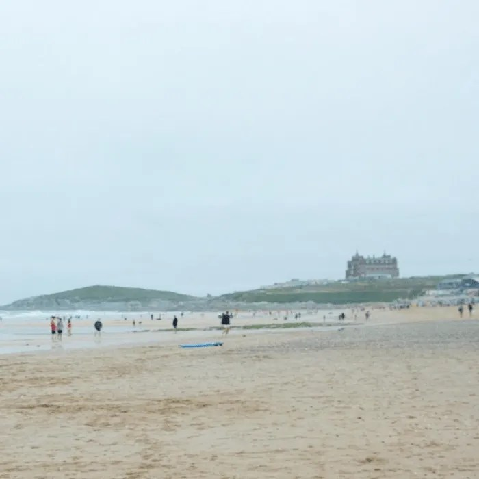 View of Fistral Beach to Town Head, Cornwall