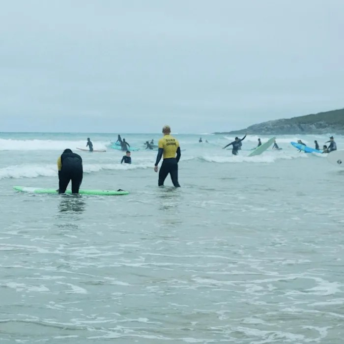 People surfing in the sea Cornwall