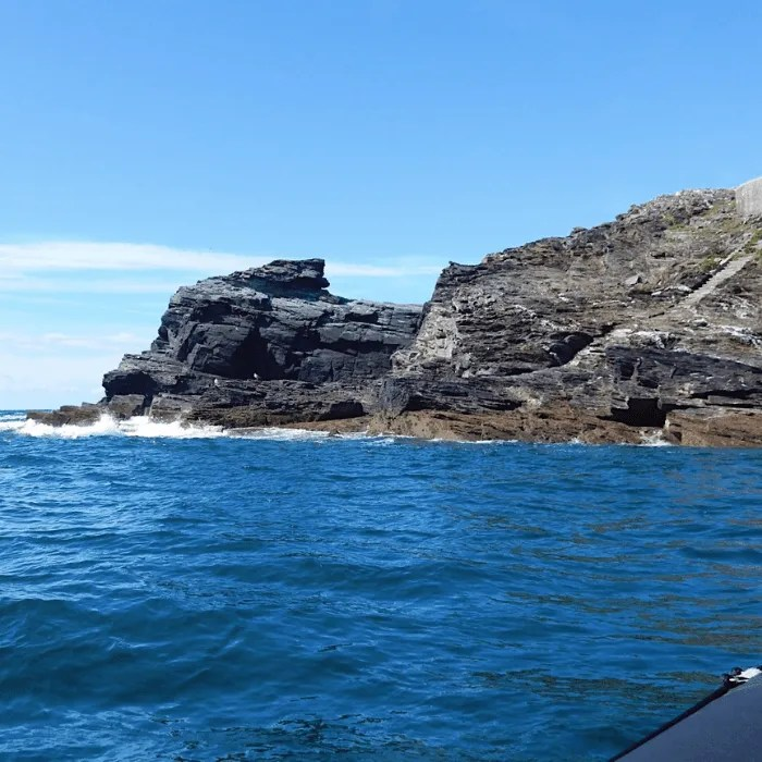 View from a rib ride of some rocks near Godrevy lighthouse
